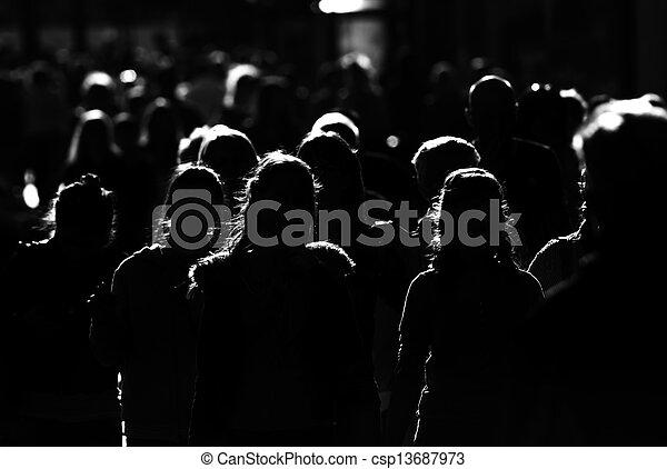 város, tolong, emberek, nagy, munka, haladó - csp13687973