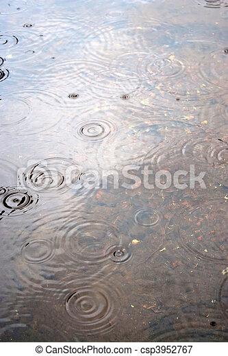 víz, esőcsepp, fodrozódik - csp3952767