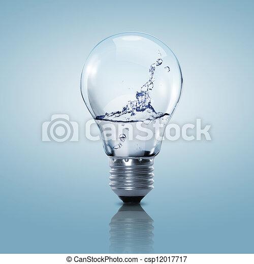 víz, fény, elektromos, kitakarít, gumó - csp12017717