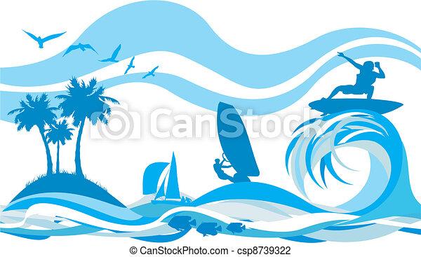 víz, recr, lenget, -, sport - csp8739322