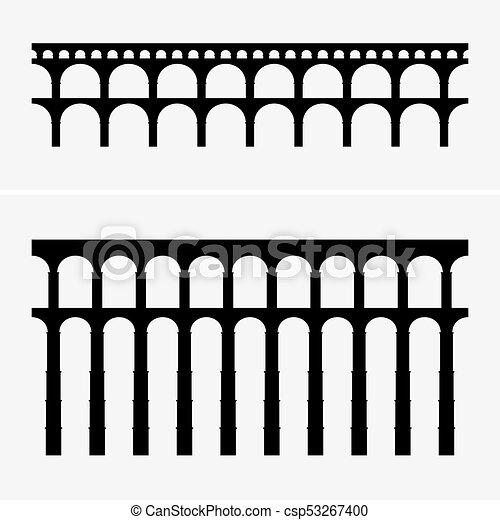 vízvezeték, bridzs, római - csp53267400
