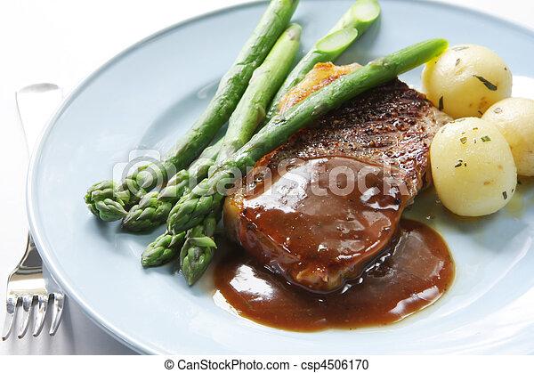 vacsora, hússzelet - csp4506170