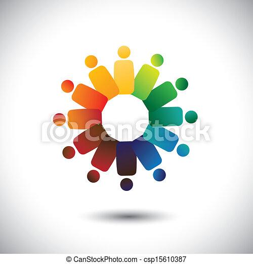 vagy, közösség, színes, játék, is, munkavállaló, karikák, friendship-, munkás, szolidaritás, vektor, &, graphic., őt előad, egyesítés, egység, children(kids), ez, találkozó, ábra, együtt, fogalom, s a többi - csp15610387