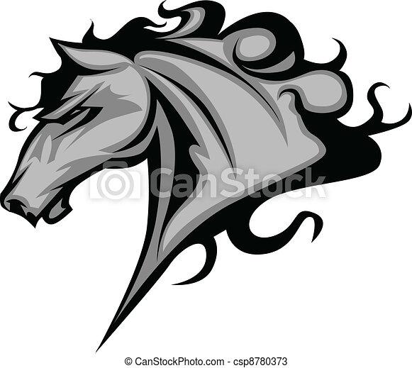 vagy, vad ló, kabala, csődör - csp8780373