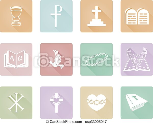 vallásos, keresztény, ikonok - csp33008047