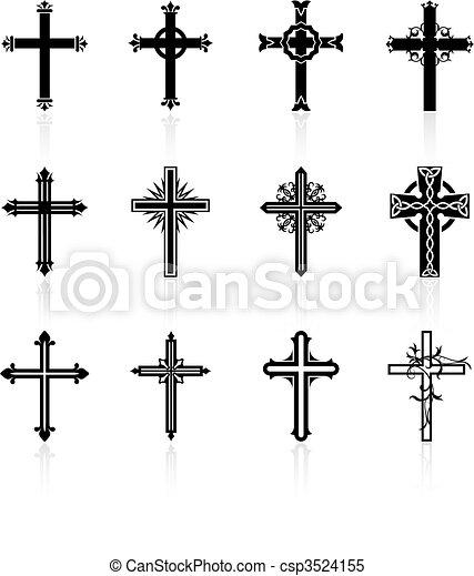vallásos, tervezés, kereszt, gyűjtés - csp3524155