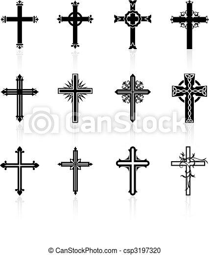 vallásos, tervezés, kereszt, gyűjtés - csp3197320