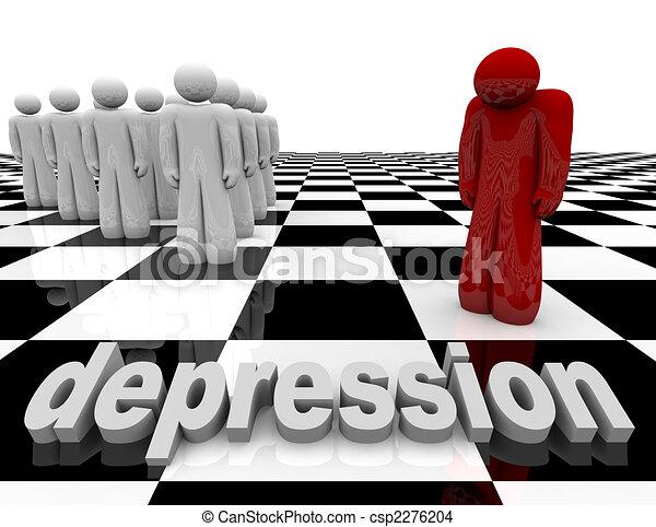 van, -, egy személy, egyedül, depresszió - csp2276204