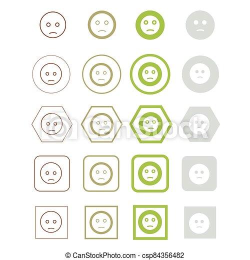 vektor, ábra, emoji, ikon - csp84356482