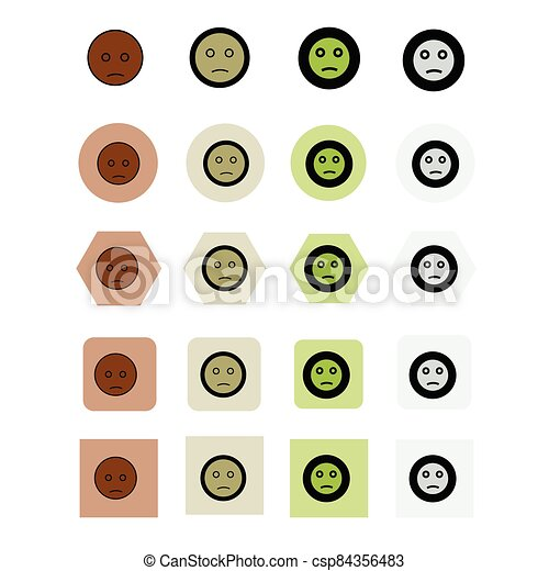 vektor, ábra, emoji, ikon - csp84356483
