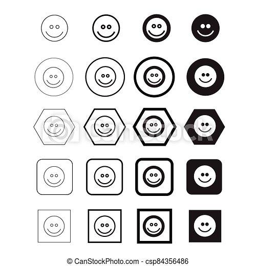 vektor, ábra, emoji, ikon - csp84356486