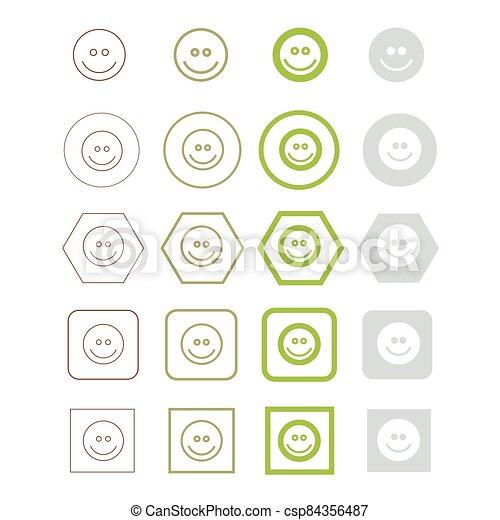 vektor, ábra, emoji, ikon - csp84356487