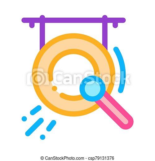 vektor, ábra, ikon, gong, áttekintés - csp79131376