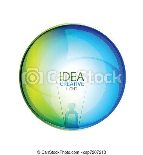vektor, buborék, sima, gondolat - csp7207218