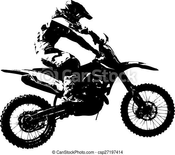 vektor, championship., motokrossz, participates, lovas, illustration. - csp27197414