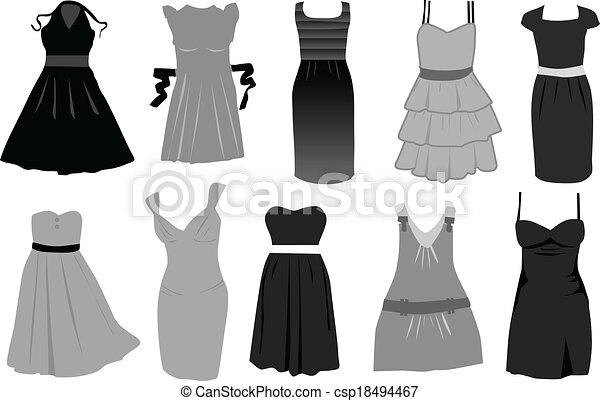 vektor, dress-icon - csp18494467