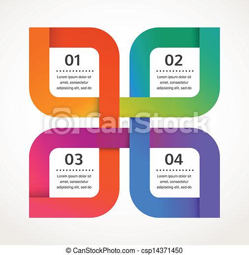 vektor, elvont, infographics, háttér, tervezés, ikon - csp14371450