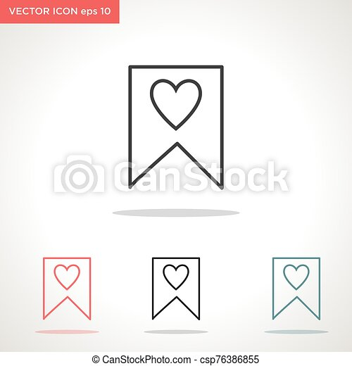 vektor, fehér, ikon, lobogó, elszigetelt, háttér - csp76386855