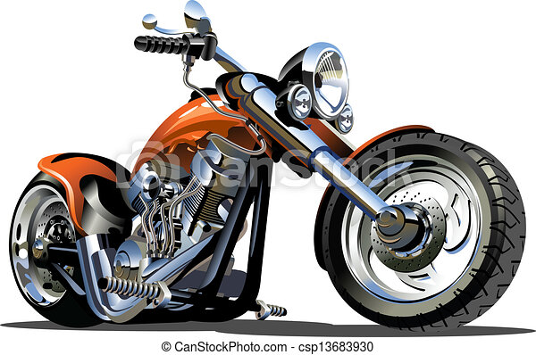 vektor, karikatúra, motorkerékpár - csp13683930
