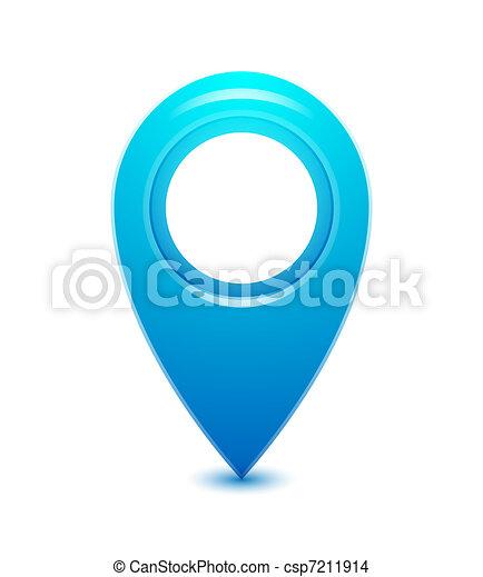 vektor, mutató, elhelyezés, ikon - csp7211914