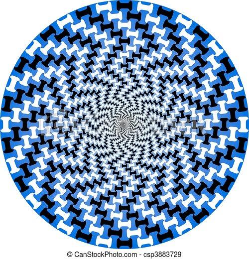 vektor, -, spirál, sakktábla - csp3883729