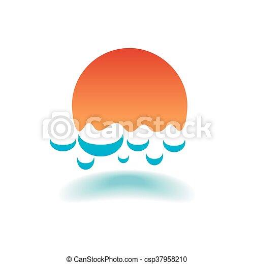 vektor, tenger, lenget - csp37958210