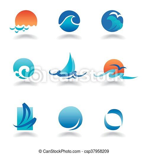 vektor, tenger, lenget - csp37958209