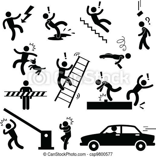 veszély, figyelmeztet, baleset, biztonság, aláír - csp9800577