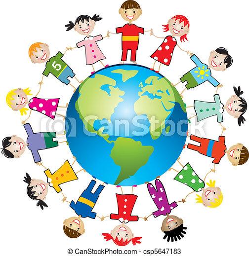 világ, gyerekek, mindenfelé - csp5647183