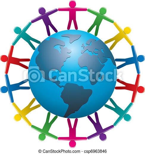 világ, mindenfelé, emberek - csp6963846