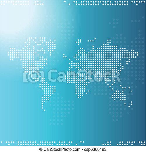 világ térkép - csp6366493