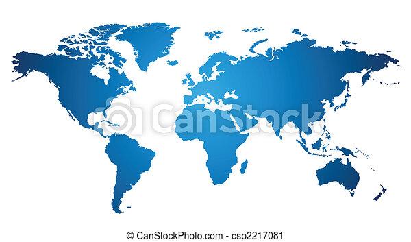 világ térkép - csp2217081