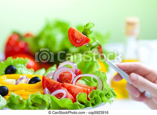 villa, saláta, egészséges táplálék, növényi, friss - csp5923916