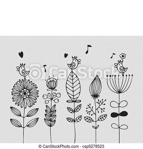 virág, kártya - csp5278523