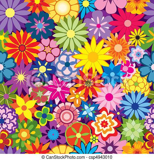 virág, színes, háttér - csp4943010
