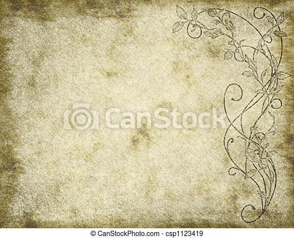virágos, dolgozat, vagy, pergament - csp1123419