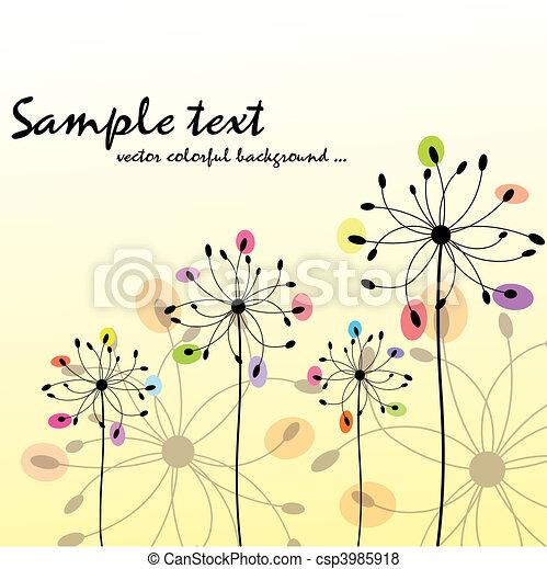 virágos, eredet, színes, nyár - csp3985918