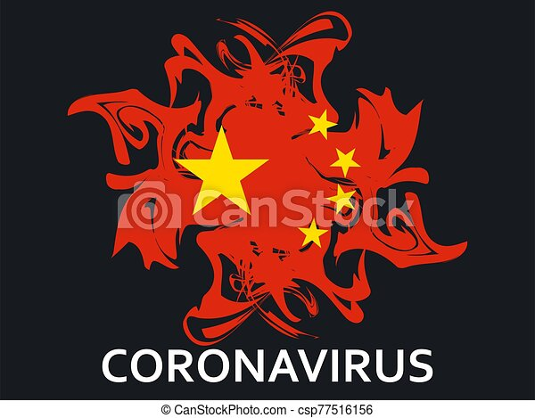 virus., középső, vektor, kínai, légzési, coronavirus, ábra, kelet, syndrome., 2019-ncov - csp77516156