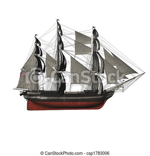 vitorlázás hajó - csp1783006