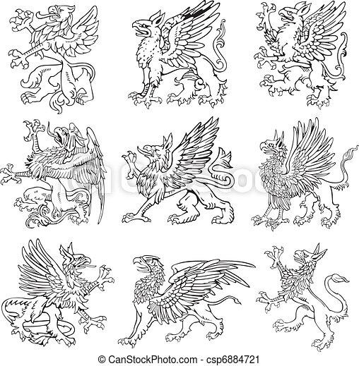 vol, címertani, szörnyek, v - csp6884721