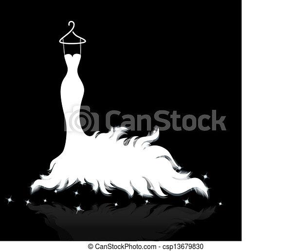 white ruha, esküvő - csp13679830