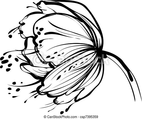 white virág, rügy - csp7395359