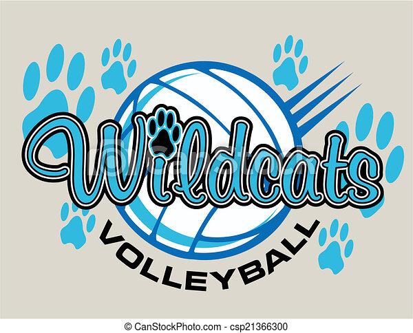 wildcats, tervezés, röplabda - csp21366300