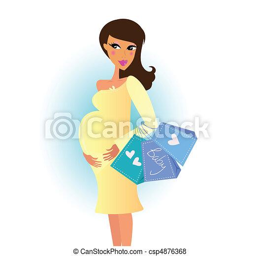 woman bevásárol, terhes - csp4876368