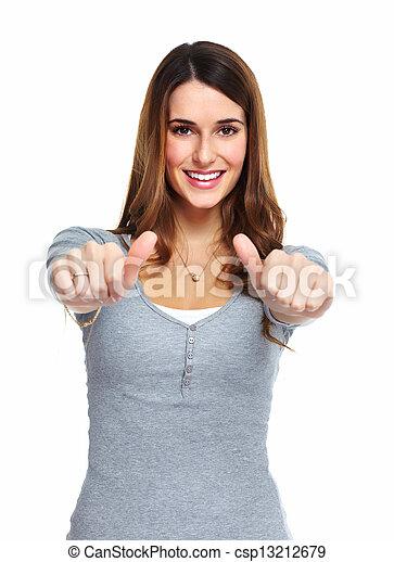 woman., fiatal, boldog - csp13212679