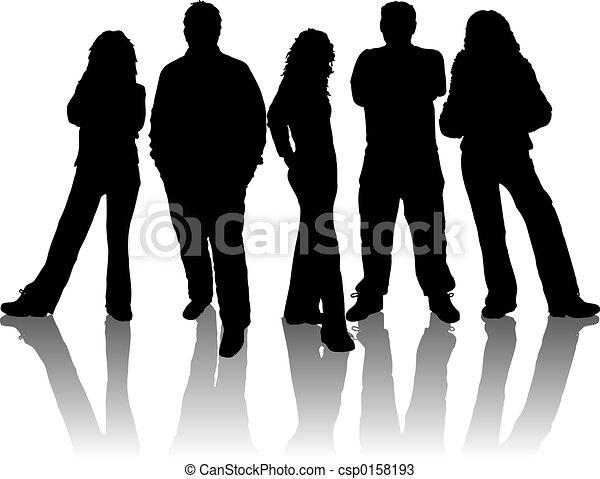 young emberek - csp0158193