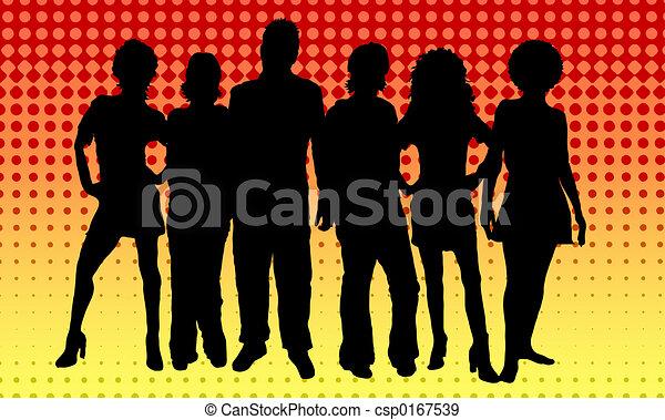 young emberek - csp0167539