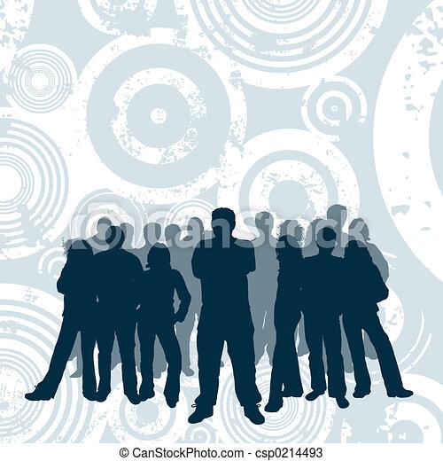 young emberek - csp0214493