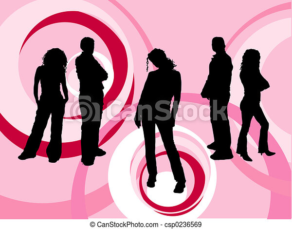 young emberek - csp0236569