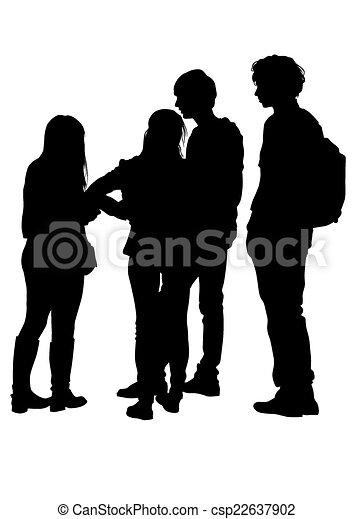 young emberek - csp22637902